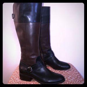 Ralph Lauren Black & Brown Riding Boots